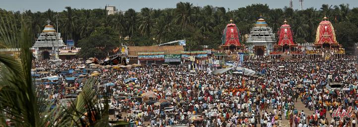 Jagannath Rath Yatra in puri, orissa