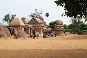 Ancient Pancha Rathas Temple, Mahabalipuram