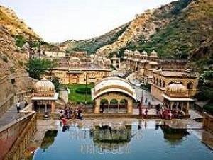 Galtaji Temple, Jaipur in Rajasthan