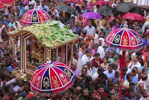 Edathua perunnal in Kerala, India