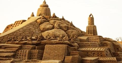 International sand art festival, Konark in Orissa