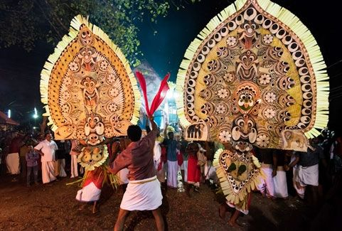 Kadammanitta padayani in Kerala, India
