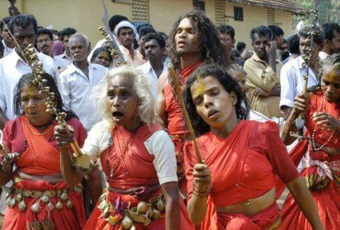 Kodungalloor bharani festival in Kerala, India