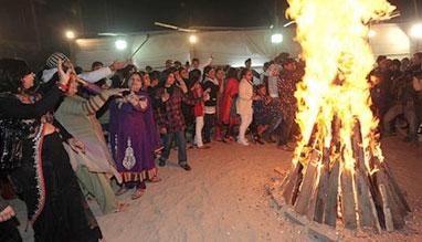 Lohri festival in Delhi, India