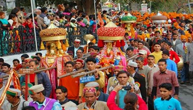 Minjar festival in Himachal Pradesh, India