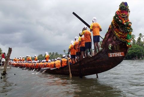Nehru Trophy boat race in Alappuzha, Kerala