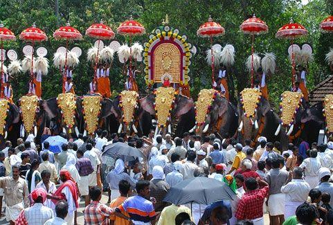 Nenmara vallangi vela in Kerala, India