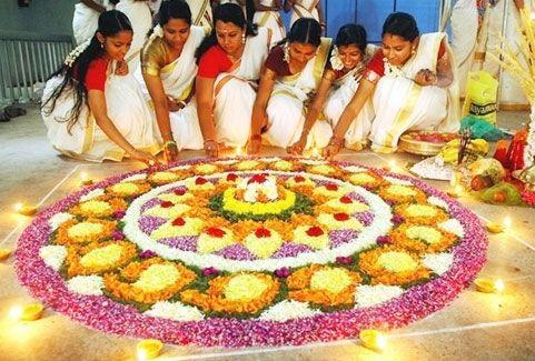 Onam festival in Kerala, India