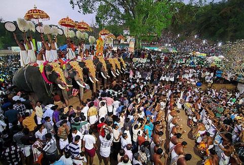 Pariyanampetta pooram festivals in Kerala