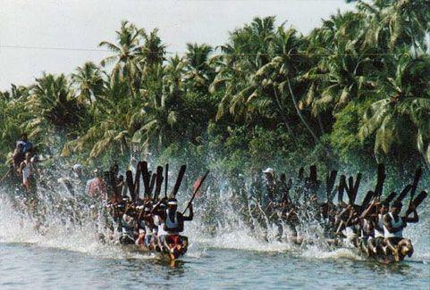 Payippad boat race in Kerala, India