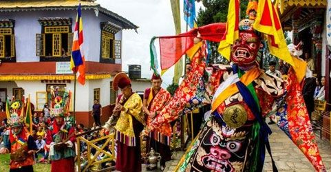 Pang lhabsol festival in Sikkim, India