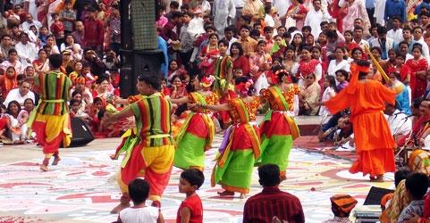 Poush Mela in Shantiniketan, West Bengal