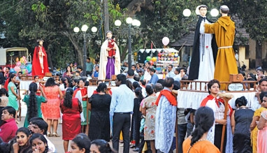 Procession of All Saints in Goa, India