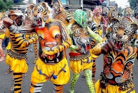 Pulikali festivals in Kerala, India