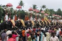 Adoor gajamela festival in Kerala, India