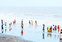 Beach Festival in Tithal Beach, Gujarat