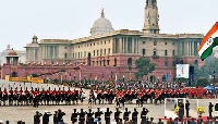 Beating the Retreat Ceremony in Delhi
