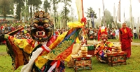 Bumchu festival in Sikkim, India