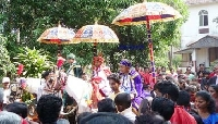 Feast of three kings in old Goa, India