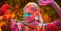 Holi festival in Uttar Pradesh, India