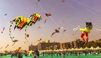 International kite festival in Jaipur, Rajasthan