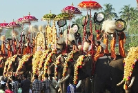 Uthralikavu pooram festivals in Kerala, India