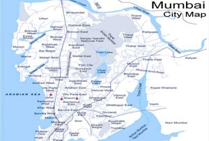 Mumbai On Map Of India.India Map For Tourists India Travel Map Indianholiday Com