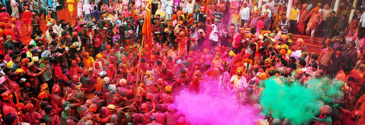Holi celebration in Gokul