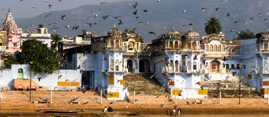 Pushkar Town in Rajasthan