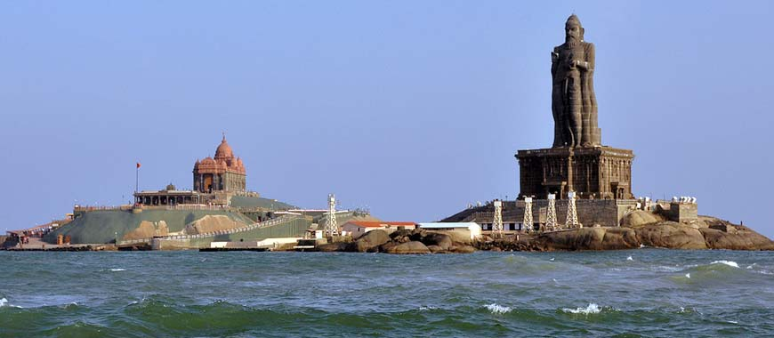 Vivekananda Rock Memorial Monument in Kanyakumari