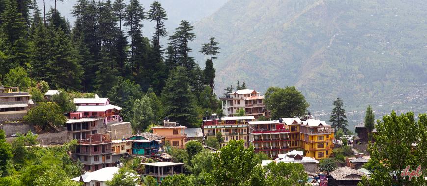 Kullu town in Himachal Pradesh