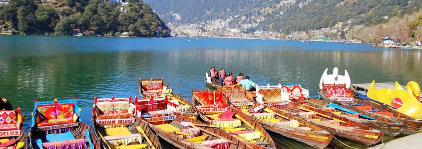 Nainital lake in Uttarakhand