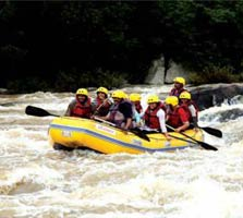 river rafting in kappad, kerala